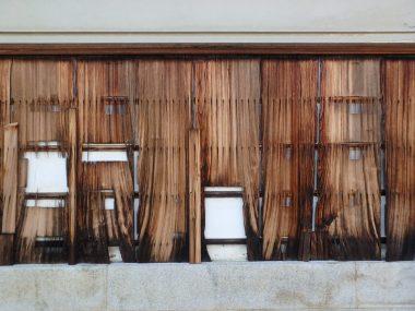 210829小槻の登録文化財の修理 板壁
