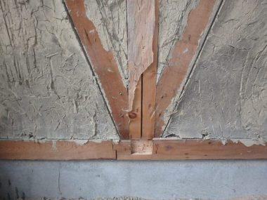 190711稲美町の民家 耐震改修 土壁の筋交