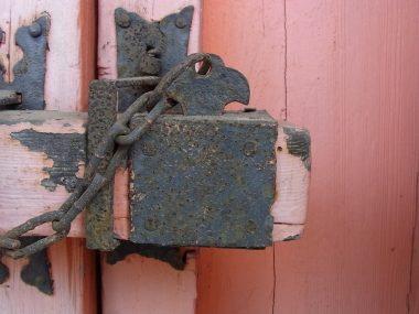 和風金物 真如堂山門脇扉の栓差し式の施錠装置 笄【こうがい】
