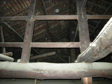 奈良県 伝統構法の建物 小屋裏調査