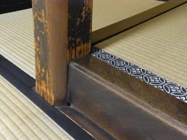 大阪適塾の奥座敷床柱と床框