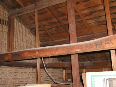 在来木造土壁の家 耐震調査 雲筋交いがない例