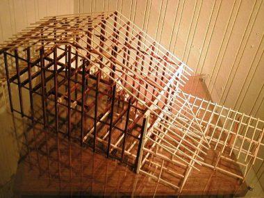 京町家の構造模型 耐震