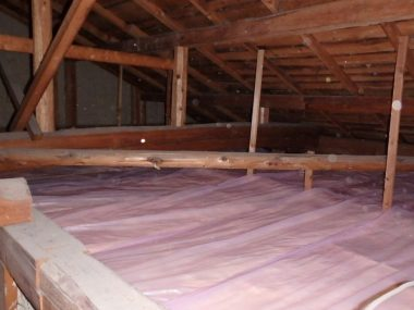 天井裏に断熱材 工事後 DIY