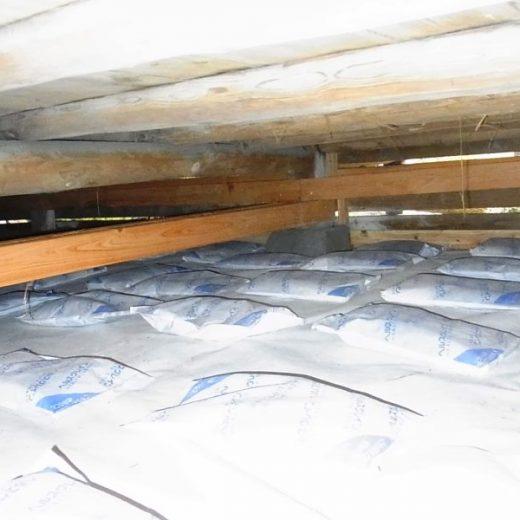 床下の湿気防止 調湿炭・調湿石 古民家再生