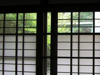 昭和初期 障子に乳白ガラス