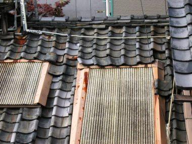 031122京町家 西陣の織工場 天窓の修理