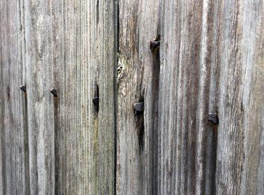 180322焼杉板と石積み 大和八木の町家5 皆折釘