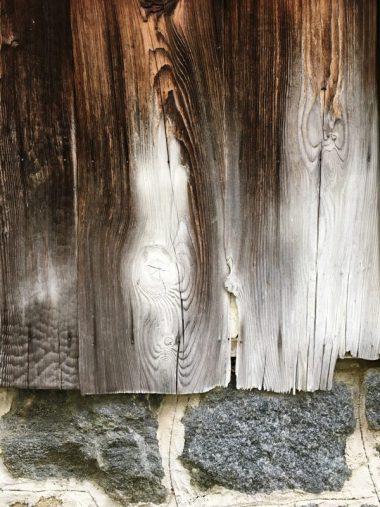 180322焼杉板と石積み 大和八木の町家2
