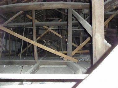 170128震災後の小屋裏補強 伝統和風-雲筋違