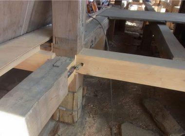 141124玉石基礎の補強 足固めの緊結