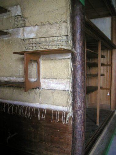 070729神戸木下邸の文化財修理現場 水屋回りの左官下地ちり仕舞い