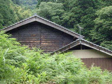 200627竹野の民家と焼杉板