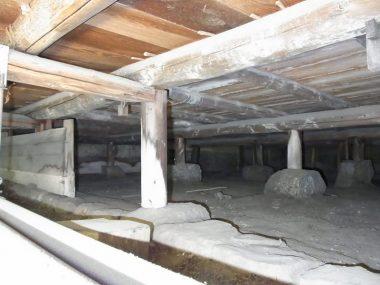 110514寺の庫裏 客殿の床下 耐震補強