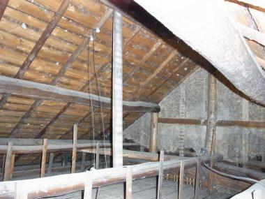 110514寺の庫裏の小屋裏 耐震補強