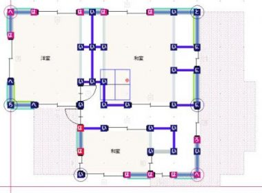 補強耐震診断平面図2F