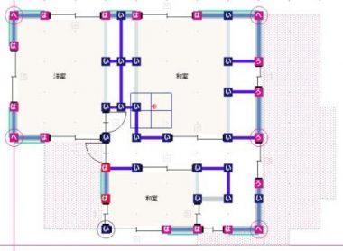 現況耐震診断平面図2F