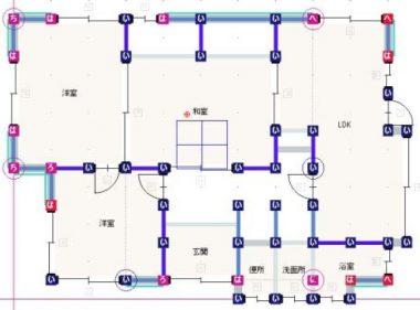 現況耐震診断平面図1F