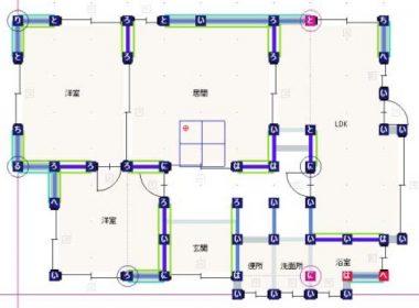 補強耐震診断平面図1F