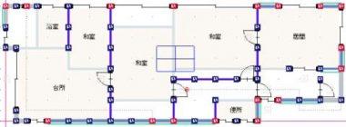 現況平面図 1Fは1LDK,2Fは3室あります。