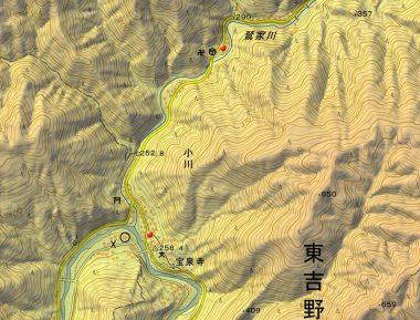 奈良県東吉野村大字小川(国土地理院)