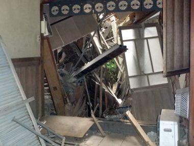 201215大和郡山の旧遊郭 東岡町 崩壊する空き家