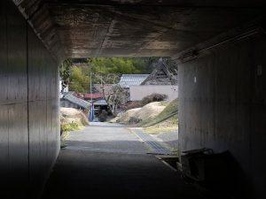 170203トンネルから見る船坂の集落2